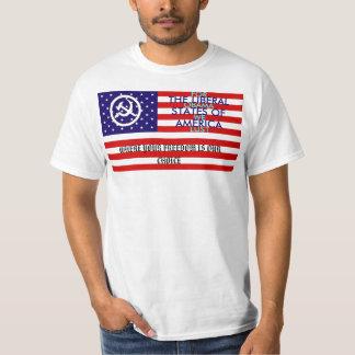 Os estados liberais de América T-shirts