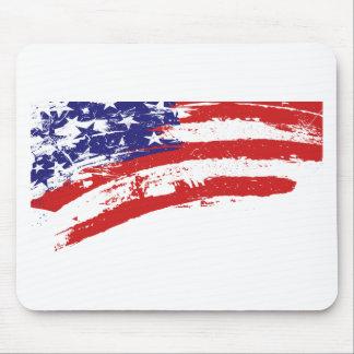 Os Estados Unidos/bandeira americana da estrela, U Mouse Pad