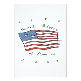 Os Estados Unidos da América Convite 12.7 X 17.78cm