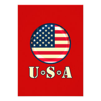 Os Estados Unidos da América Convite Personalizado