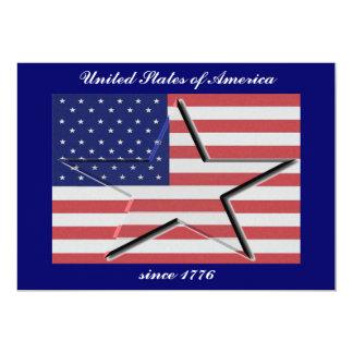 Os Estados Unidos embandeiram com convites 3-D da