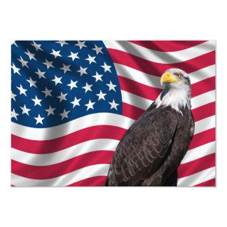 Os EUA embandeiram com águia americana Convites Personalizados