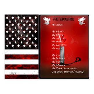Os EUA embandeiram o cartão memorável comemorativo Cartão Postal