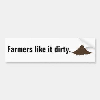 Os fazendeiros gostam d sujo adesivo para carro