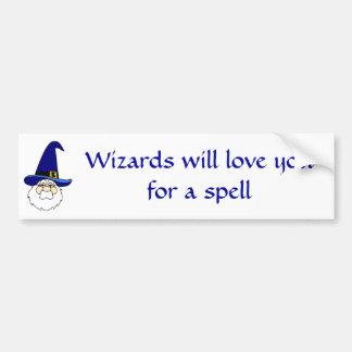 Os feiticeiros amá-lo-ão para um período adesivo para carro