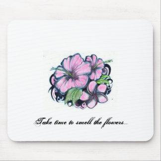 Os Flor-Tatuagens, tomam o tempo cheirar as flores Mouse Pads