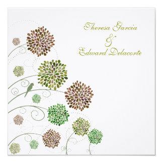 Os frontões verdes Wedding personalizaram o Convites Personalizados