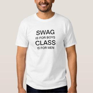 Os ganhos são para meninos, classe são para homens camiseta