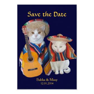 Os gatos engraçados ao sul do casamento da beira convite 8.89 x 12.7cm