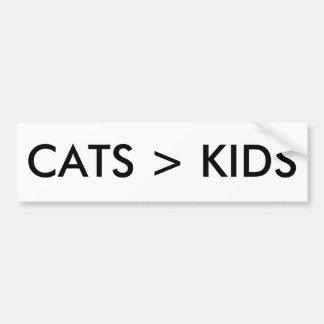 Os gatos são melhores do que o autocolante no adesivos