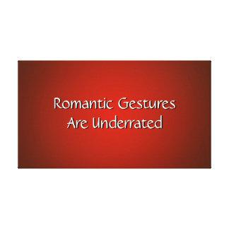 Os gestos românticos Underrated envolveram o