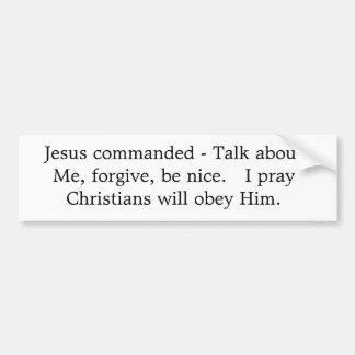 Os grandes comandos de Jesus Adesivo Para Carro