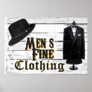 Os homens multam a roupa II Impressão