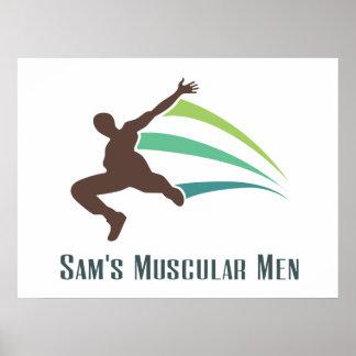 Os homens musculares de Sam - funcione para Sam Impressão