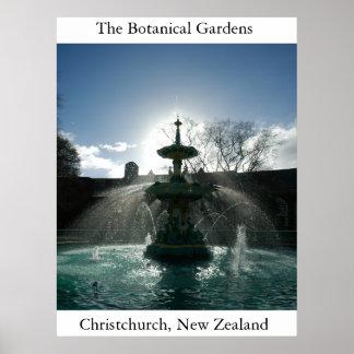 Os jardins botânicos pôster