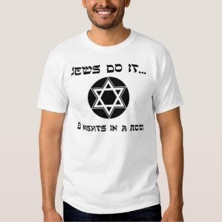 Os judeus fazem-no… 8 noites em uma fileira tshirt