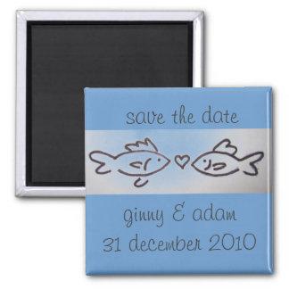 os kissfish salvar a data ímã quadrado