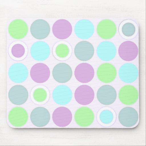 Os KRW refrigeram pontos do verde azul e do roxo Mousepads