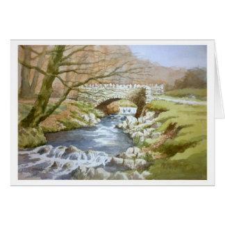 Os ladrões constroem uma ponte sobre, Exmoor Cartão Comemorativo