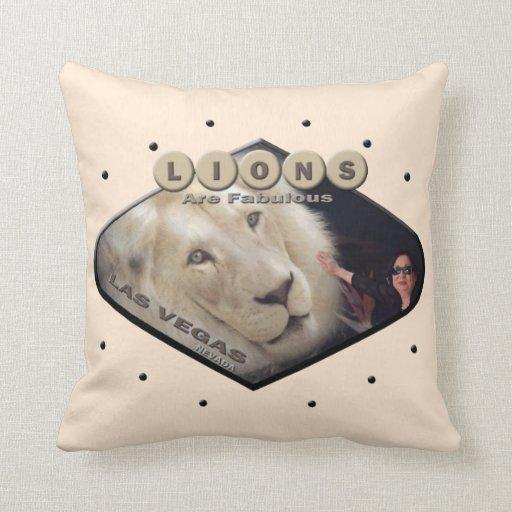 Os leões são travesseiro fabuloso de Las Vegas
