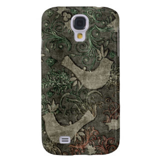 Os LoveBirds do vintage gravaram a caixa HTC do Capas Samsung Galaxy S4