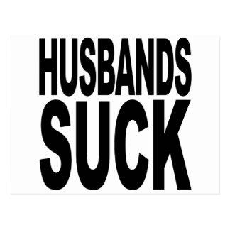 Os maridos sugam cartão postal