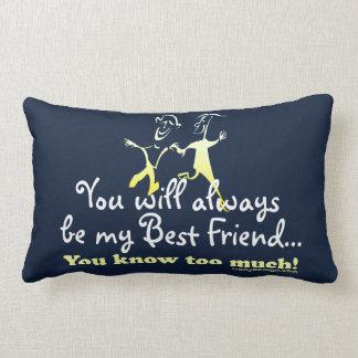 Os melhores amigos sabem almofada lombar