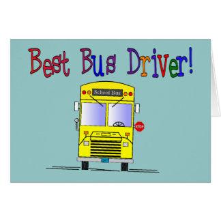 Os melhores presentes do condutor de autocarro cartão