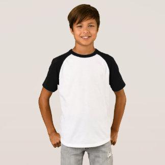 Os meninos Short o t-shirt do Raglan da luva
