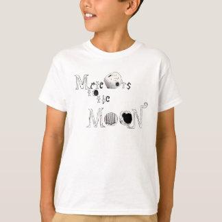 Os meteoros da criança ao Tshirt da lua