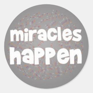 Os milagre acontecem adesivo