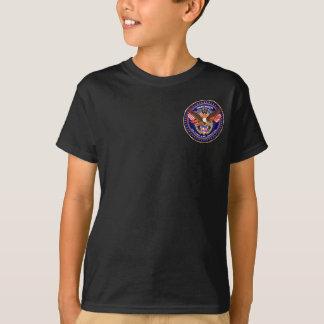Os miúdos patrióticos pocket somente escuro tshirt