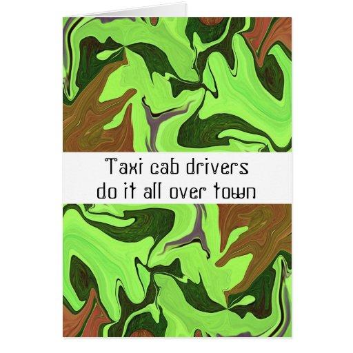 Os motoristas de táxi do táxi fazem-no por todo o  cartoes