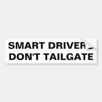 Os motoristas espertos não fazem bagageira. adesivo de para-choque