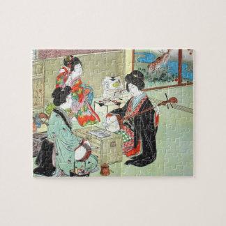 Os músicos - quebra-cabeça japonês da coleção dos