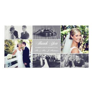 Os Newlyweds agradecem-lhe luz do cartão com fotos