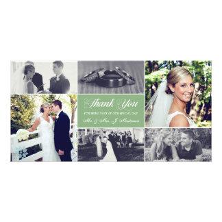 Os Newlyweds agradecem-lhe verde prudente do Cartoes Com Foto