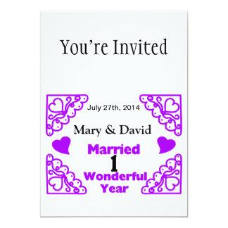 Os nomes dos redemoinhos de Purple Heart & datam Convite 12.7 X 17.78cm