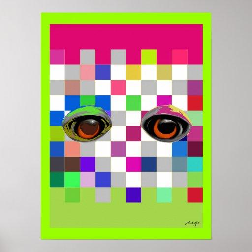 Os olhos têm-no poster do pop art