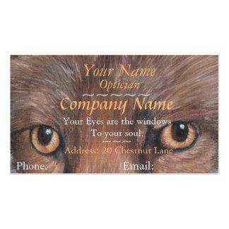 os ópticos eyes a imagem da nomeação da arte dos cartão de visita