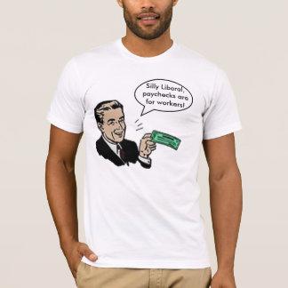 Os pagamentos liberais parvos são para camisetas