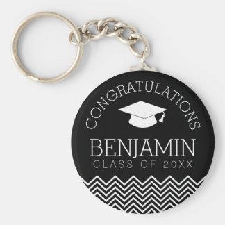 Os parabéns graduam - a graduação personalizada chaveiro