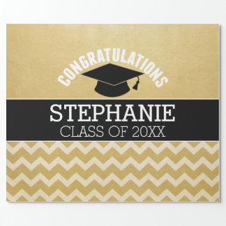 Os parabéns graduam - a graduação personalizada papel de presente