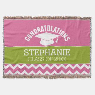 Os parabéns graduam - a graduação personalizada throw blanket