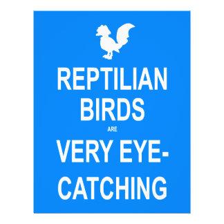 Os pássaros do Reptilian são muito atraentes Flyer 21.59 X 27.94cm