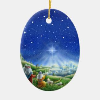 Os pastores vêm ao ornamento de Bethlehem