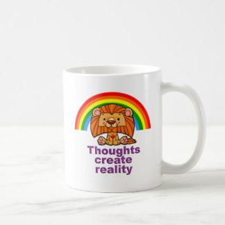 os pensamentos criam a realidade caneca