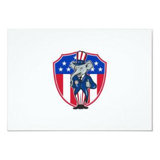 Os polegares republicanos da mascote do elefante convites personalizado