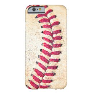 Os pontos vermelhos do basebol do vintage capa iPhone 6 barely there