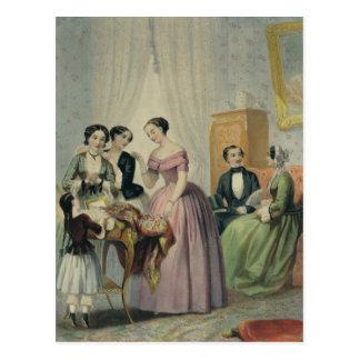 Os presentes de casamento cartão postal